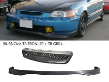 For 96-98 Honda Civic Type-R Front lip+Front Grill FREE SHIPPING FAST