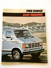 1988 Dodge Ram Wagon Van 10-page Original Car Sales Brochure Catalog
