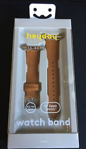 Heyday Faux Suede Band for Apple Watch Strap 42/44mm Tan - New