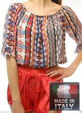 3/4 Sleeve Casual Regular Crop Tops and Blouses for Women