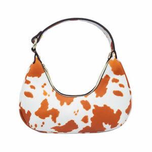 TIGERSTARS VERSATILE BROWN COW PRINT HOBO SHOULDER BAG