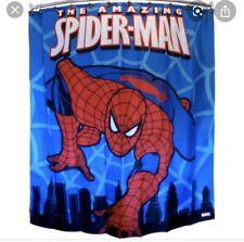 "The Amazing Spiderman Shower Curtain w/ Holes 70"" x 72"" Spider-Man Marvel Rare"