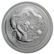 2012 Australia Perth Mint 1/2 oz Year of the Dragon .999 Silver! New In Capsule!