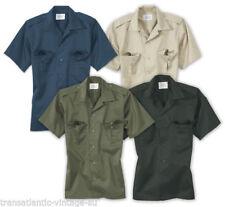 Camisas casuales de hombre de manga corta de poliéster