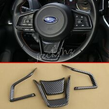 For Subaru Crosstrek Forester Impreza XV Carbon Fiber Steering Wheel Trims Cover