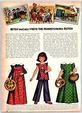 1973 McCalls Paper Dolls Betsy McCall Visits The Pennsylvania Dutch Print Ad
