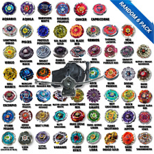 Beyblade 6 Pk Random Collection Metal Masters Equipped w/ 1 LR Launcher/1 LL2