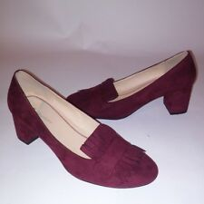CL by Laundry Womens Heels Pumps Size 9.5 Burgundy Red