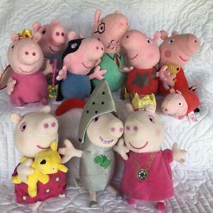 Peppa Pig soft Plush Toy Bundle x 10 including three talking toys ~ Bargain!