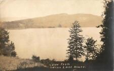 Postcard Ny View from Indian Lake House Hamilton Cnty Rppc Postmark Sabael 1925