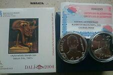 Año 2004. 10 EUROS DE PLATA. Centenario nacimiento SALVADOR DALÍ. Autoretrato.