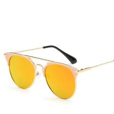 Mirror Rose Gold Sunglasses Women Round Luxury Brand Female For Women Fashion