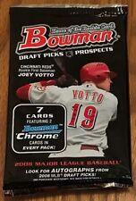 2008 Bowman Draft Pack (Buster Posey Giancarlo Stanton Gold Chrome Rftr Auto)?