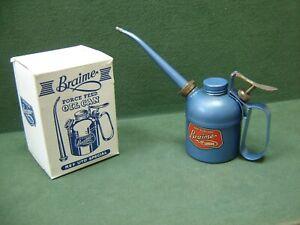 Vintage Braime of Leeds Force Feed Oil can Ref Utd Special In Original Box