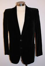 MENS ORIGINAL VINTAGE BLACK COTTON VELVET JACKET