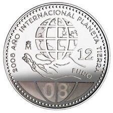 ESPAÑA, SPAIN, ESPANIEN 2008.MONEDA COIN 12 EUROS DE PLATA EN BLISTER ORIGINAL
