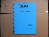 BSA WORKSHOP MANUAL FOR B31,B32,B33,B34 RIGID, PLUNGER & SWINGING ARM MODELS