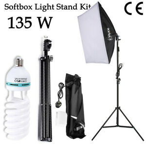 135W Continuous Lighting Soft Box Photography Studio Video w/2M Light Stand Kit