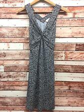 Ann Taylor LOFT Women's Black/White Sleeveless Criss Cross Dress. Size 6.