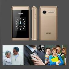 Unlocked Old Man Flip Mobile Phone Senior One Key Dial Dual Sim SOS