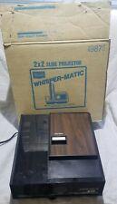 Vintage Whisper Matic III Sears Roebuck 2x2 Slide Projector Tested