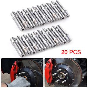 14x1.25 to 12x1.5 20pcs Rim Wheel Conversion Kit Converter Adapter Bolts Studs