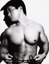 1960's Vintage ASIAN MALE NUDE Japan Bodybuilder Muscle Body 16x20 TAMOTSU YATO