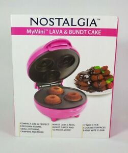 Nostalgia MyMini Lava and Bundt Cake Maker - Hot Pink - New - Compact NIB