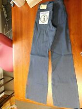 1988 Navy Bell Bottom Jeans Navdungaree Mens Size 28 36 New Old Stock NOS