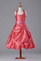 G169R Halter Pink Pageant Girl Dress Flower Girl Dress
