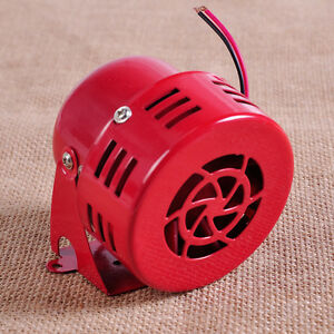 12V Red Motor Driven Air Raid Siren Horn Alarm 50's fit for Car Truck Motorcycle
