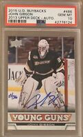 2015 16 John Gibson PSA 10 AUTO YOUNG GUNS BUY BACK DNA RC ROOKIE #5/36 2013 14