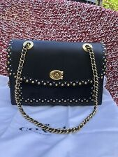 NWT COACH 76530 PARKER SHOULDER BAG WITH EDGE SCALLOP RIVETS
