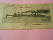 La Marseillaise le croiseur cuirassé nouveau modèle Print 1904
