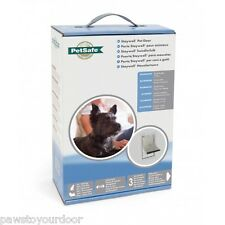 Staywell Petsafe 600 petit chien porte 2 voies ALUMINIUM BLANC Chatière 600ML