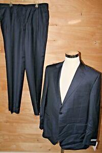 Hickey Freeman Tasmanian Super 150's Dress Suit SZ 46 J 41 P Blue Stripe $1495