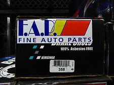 BRAND NEW FDP 358 REAR/FRONT DRUM BRAKE SHOE SET FITS VEHICLES LISTED