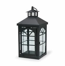 Large Black Lantern Metal Glass Wedding Table Decor Centerpiece MW55012
