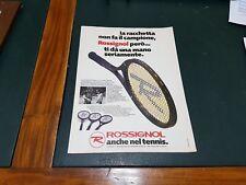 Advertising Italian Pubblicità * TENNIS * : ROSSIGNOL Racchette ( 1978 )