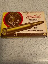 Weatherby .257 Magnum Ultra-Velocity Box.