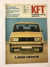 Kraftfahrzeugtechnik KFT 07/1982 Lada 1300 Opel Ascona Bastei DDR Geschenk Rar