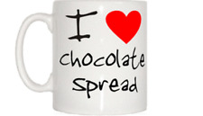 I Love Heart Chocolate Spread Mug