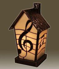 Tiffanylampe Tiffany Lampe Haus Tischlampe Notenschlüssel Noten Musik neu,T91S