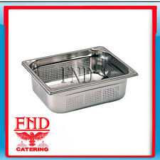 Gastronorm Pan Stainless Steel Perforated 1/2 Size  65mm Deep