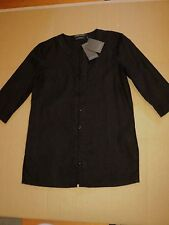 sportscraft   linen shirt black RRP$139.99 long sleeve tunic