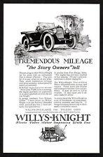 1922 Old Vintage Willy's Knight Sleeve Valve Motor Engine Car Art Print Ad
