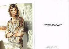 PUBLICITE ADVERTISING 014   2013   ISABEL MARANT  haute couture ( 2 pages)