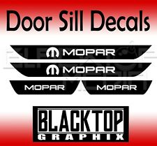 MOPAR Dodge Charger Vinyl Door Sill Decals  2012 2013 2014 2015 2016 2017 2018