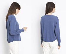 Vince $320 100% Cashmere Sweater in Postman Blue; XS