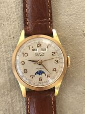 Vintage Alton Villereuse Automatic Day-Date Moon Phase 35mm Circa 1950s  Watch